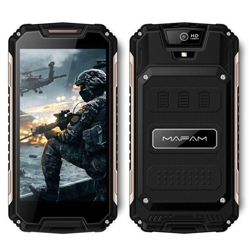Smartphone Android 6.0 extérieur robuste mampa écran QHD 5.0 pouces Quad Core 1 + 8 GB 3G WCDMA 2G GSM téléphone Mobile mince antichoc