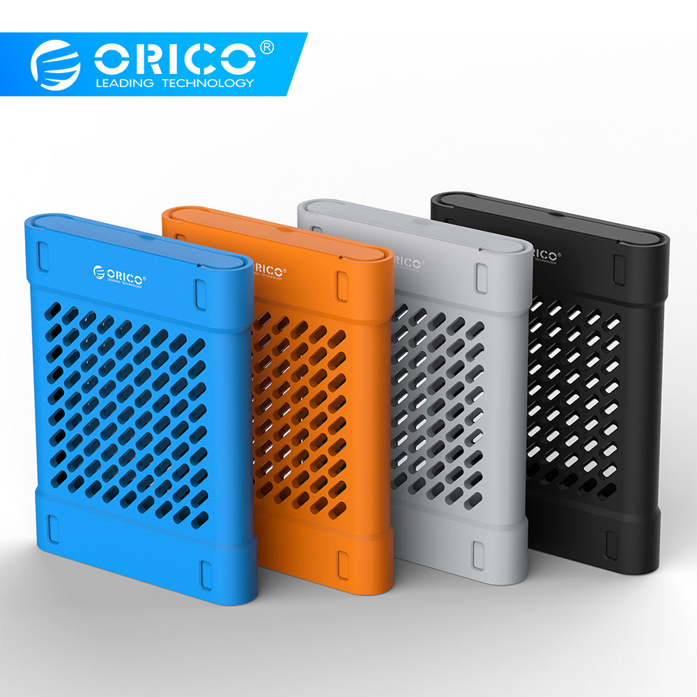ORICO PHS-25 2.5 Inch Silicone Protective Box / Storage Case For Hard Drive Black/Blue/Gray/Yellow