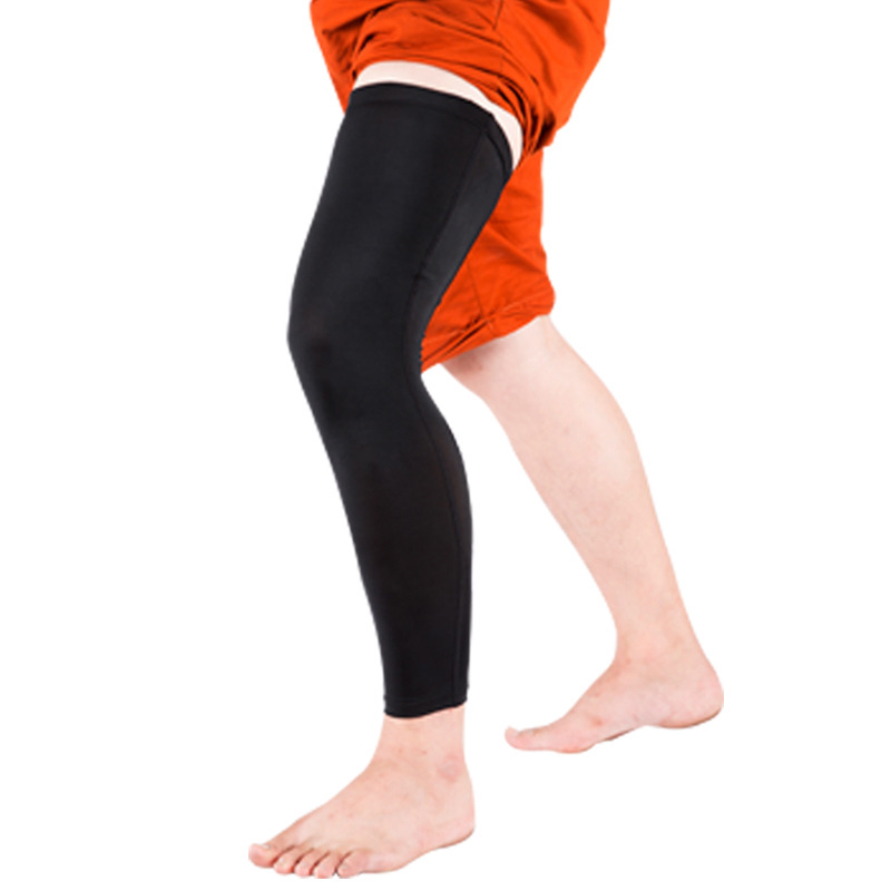 2803740942fe1f Free Shipping 1Pcs Professional Basketball Leggings Slip Breathable Sports  Tights Long Sleeve Calf Pad Ski Knee Protector-in Elbow & Knee Pads from  Sports ...