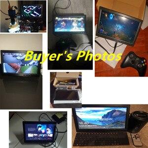 "Image 2 - Podofo 10.1 ""lcd hd monitor mini tv & display de computador tela colorida 2 canais entrada vídeo monitor de segurança com alto falante vga hdmi"