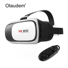 Realidad Virtual 3D Glasses VR VR Gafas Google Cartón Caja 2.0 Versión Auricular Bluetooth + 3.0 Controlador Remoto VR119