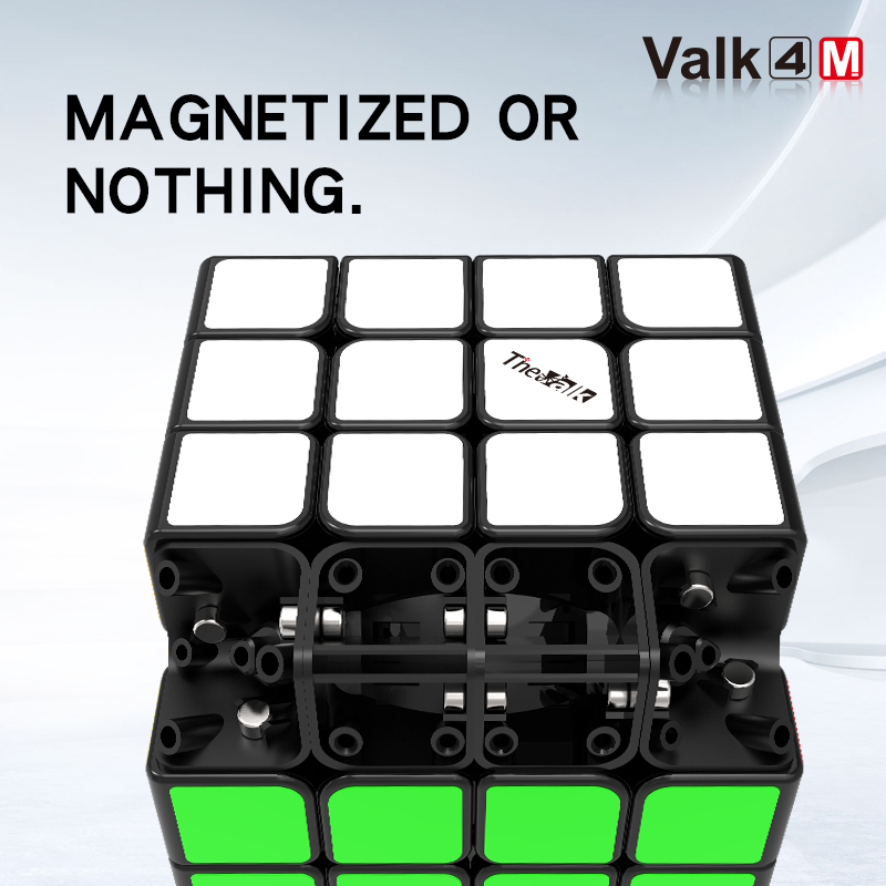 New QiYi valk 4M 4x4x4 Magnetic Magic Speed Cube Stickerless Professional Magnets Puzzle Cubes Valk4 M