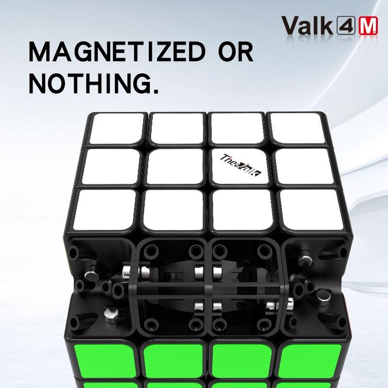Nouveau QiYi valk 4 M 4x4x4 magnétique magique vitesse Cube sans autocollant professionnel aimants Puzzle Cubes Valk4 M Valk 4 M