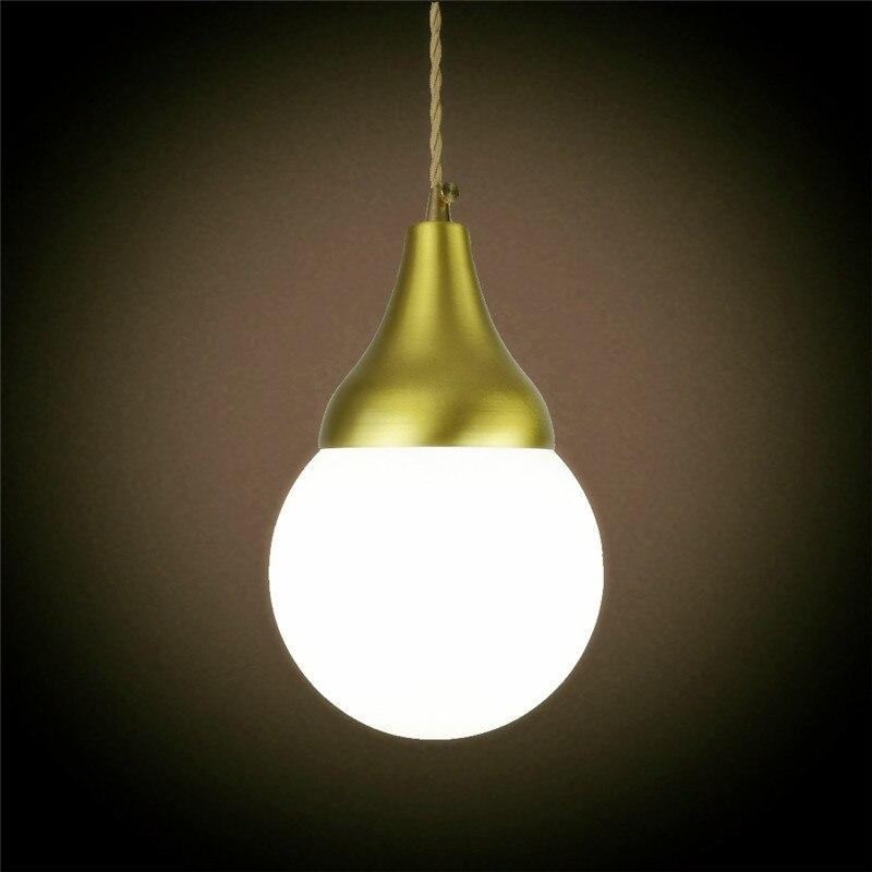 E27 brass material pendant light edison bulb G125 LED vintage copper fabric wire home decoration fixture brass pendant lamp