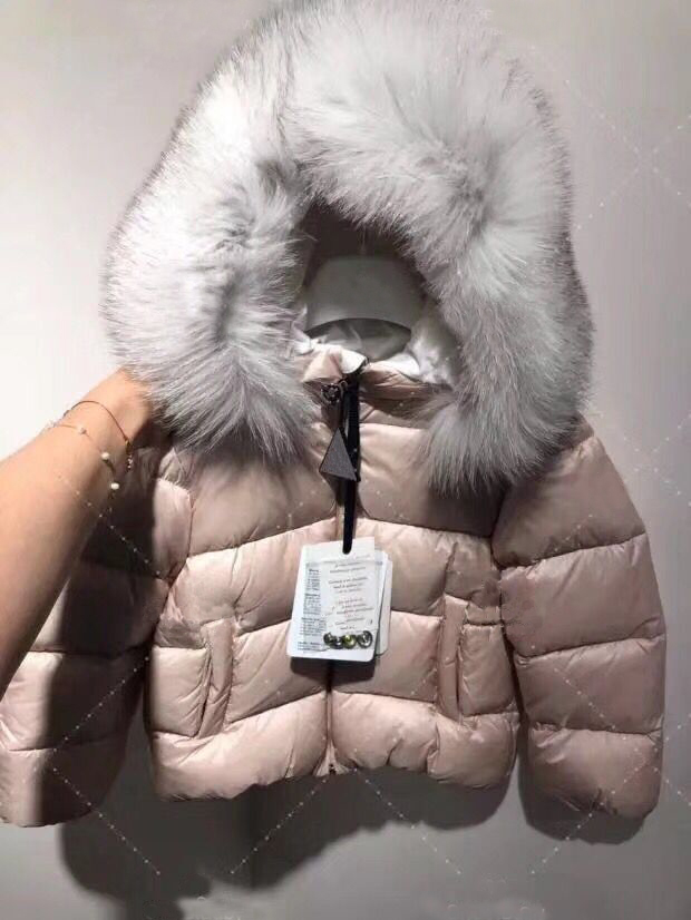 kid down jackets girls pink duck down coat hooded with real fur for boys girls autumn winter warm down clothes in end of Oct цена