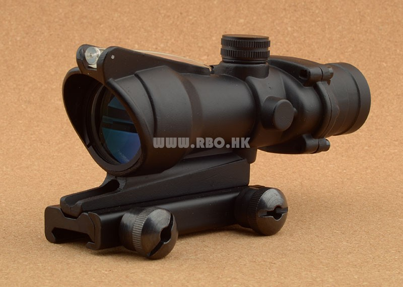 ФОТО Tactical Trijicon acog style 4X32 Rifle scope Red Optical Fiber hunting tactical shooting RBO M6884
