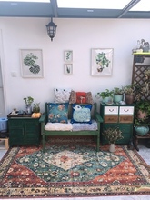 Nordic Retro Ethnic Jacquard Mandala Round Mat Flower Printed Carpet For Livingroom Kids Room Large Area Rug Ho