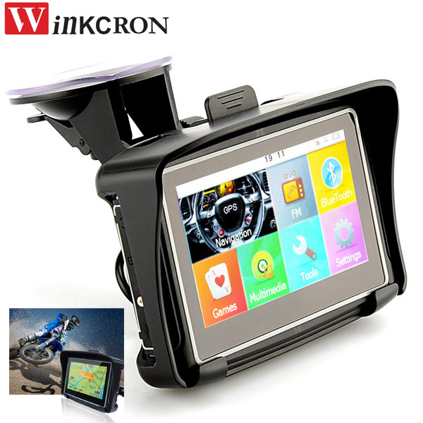 4 3 touch car motorcycle gps navigation with ipx7. Black Bedroom Furniture Sets. Home Design Ideas