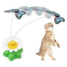 Электрические вращающиеся игрушки для кошек интерактивные игрушки для кошек товары для домашних животных эмуляция вращения бабочки Автоматическая забавная игрушка для кошек