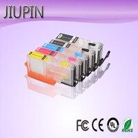 JIUPIN 5pcs 재충전 용 잉크 카트리지 PGI270 PGI-270XL PGI-270 Canon PIXMA MG7720 TS9020 TS8020 프린터 용 CLI-271
