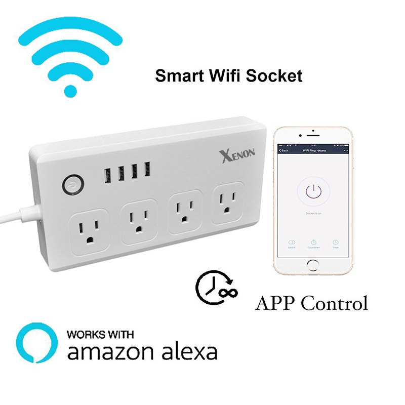 WiFi multi plug 10A+timer US wifi power socket plug outlet smart phone Wireless Controls smart home works with Amazon echo Alexa  дюбель 10 multi plug универсальный 25 шт
