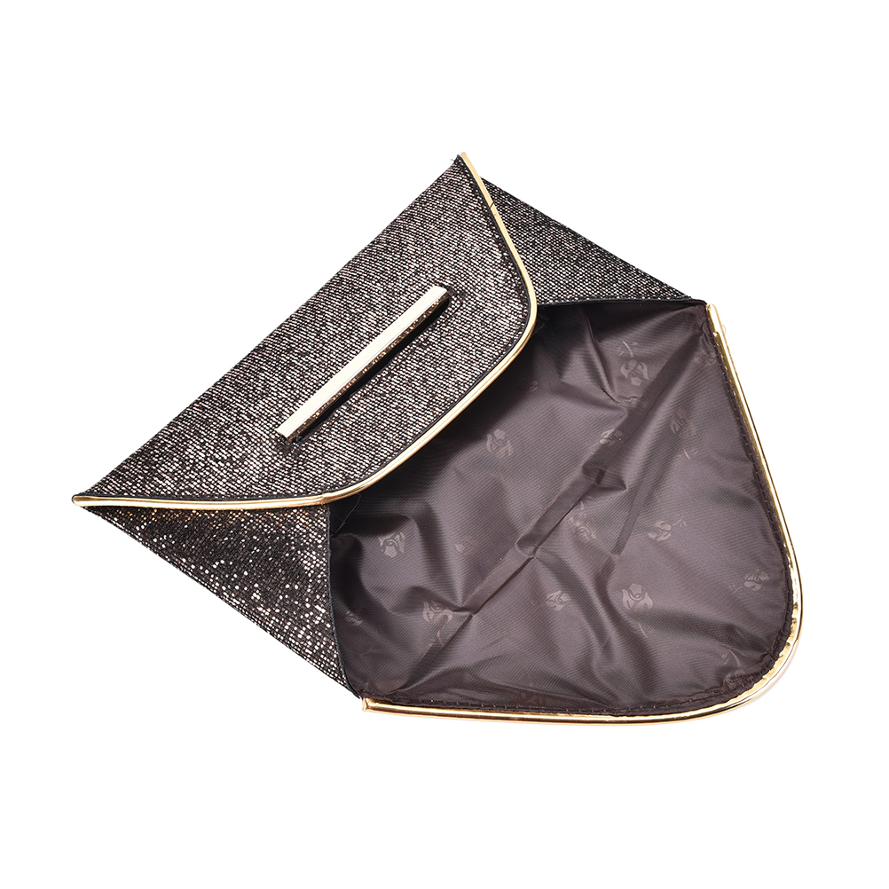2017 glitter ladies hand bags luxury shiny envelope clutch bag wedding bags  for women evening party black purse handbag-in Top-Handle Bags from Luggage  ... 7bc2805183d1
