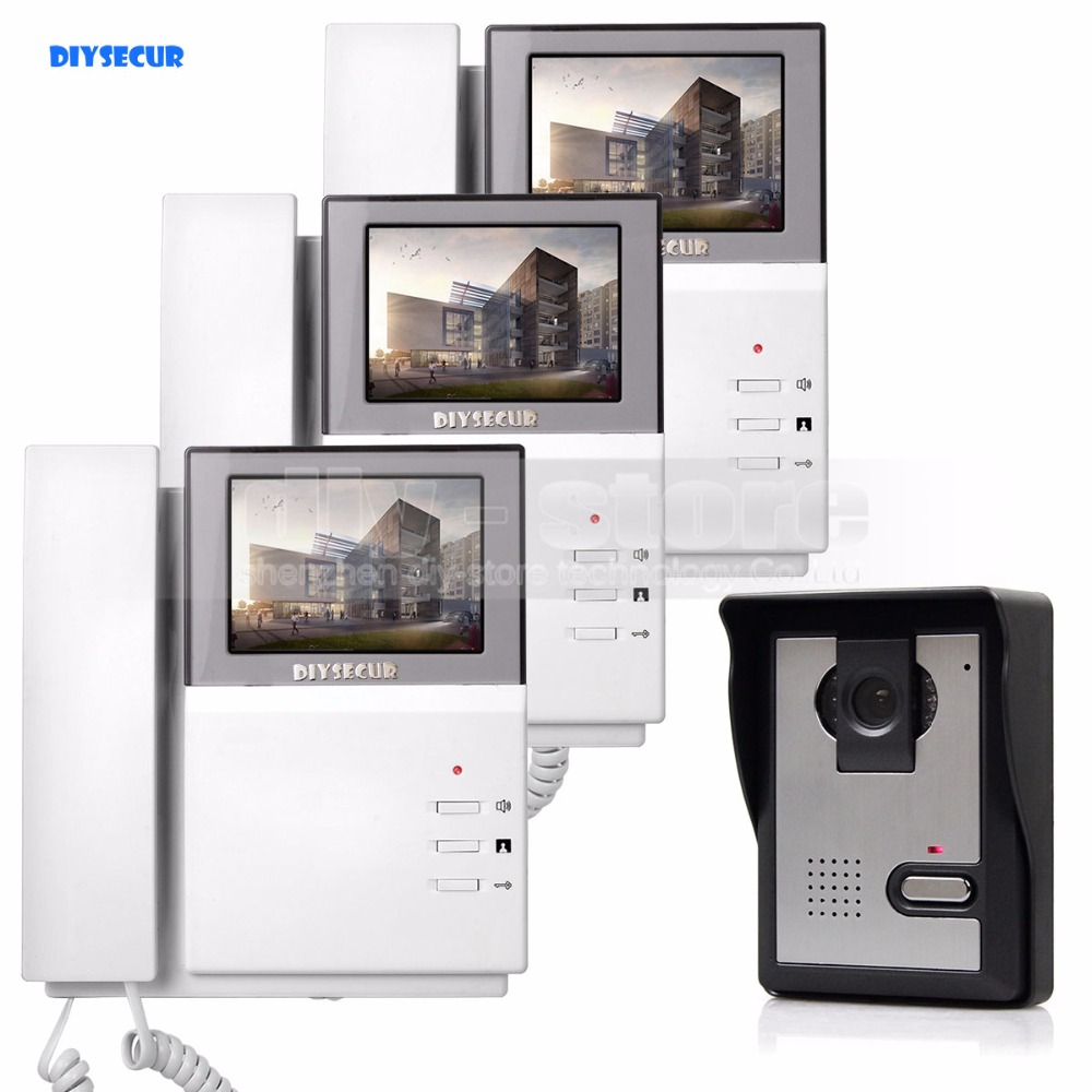 DIYSECUR 800 x 480 HD 4.3inch Video Intercom Video Door Phone Doorbell 600TV Line Outdoor Unit for Home / Office Security System dreambox 800 hd крайот