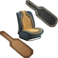 Universal Wooden Bead Beaded Massage Front Seat Cushion Cover Car Van Taxi Office Summer Seat Covers Black Brown