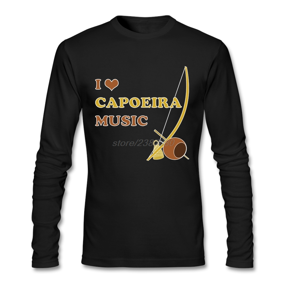 Black t shirt diy - Diy Special Tshirt Man I Love Capoeira Music Full T Shirt Simple Style Natural Cotton Make