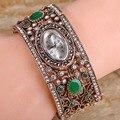 Турецкий Дизайн Часы Браслет Для Женщин Партия Подарков Relojes Mujer Античное Золото Смолы Pulseira Женщины Vintage Браслеты и Браслеты