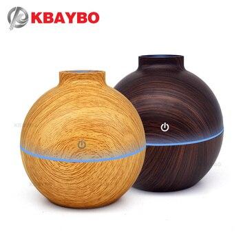 Diffuseur d'huile essentielle d'arome d'usb humidificateur ultrasonique de brume fraîche purificateur d'air lumière de 7 LED qui change de couleur pour 130 ml