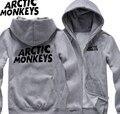 Hombres Otoño y el invierno de la camisa de manga larga más tamaño Arctic monkeys Sudaderas para hombres hombre de lana con cremallera Sudadera de algodón