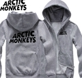 Men's Autumn and winter long sleeve shirt plus size  Arctic monkeys Hoodies for men man fleece zipper cotton Sweatshirt