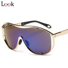 New 2017 deportes steampunk colorido de metal de gran tamaño gafas de sol zonnebril siameses gafas de sol gafas mujeres hombres gafas de sol hombre