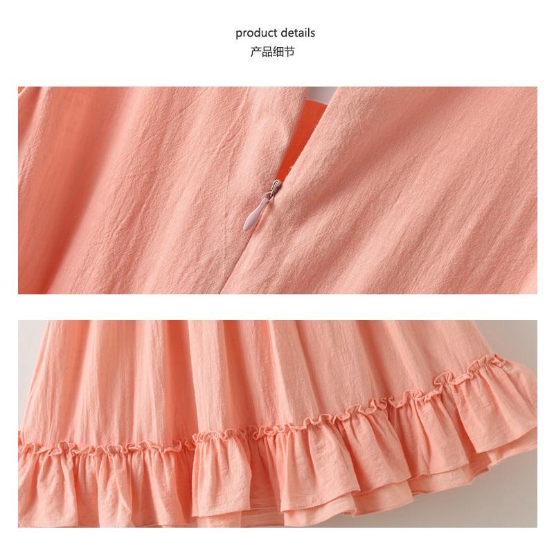 2019 verano nueva niña de lino de algodón vestido largo sin mangas - Ropa de ninos - foto 6
