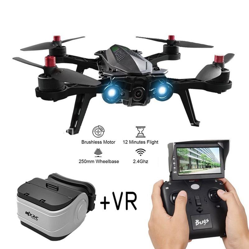 MJX Bugs 6 B6 2.4g RC Hélicoptère Moteur Brushless Haute Vitesse RC Drone Avec Caméra FPV en Temps Réel transmission d'image RC Quadcopter