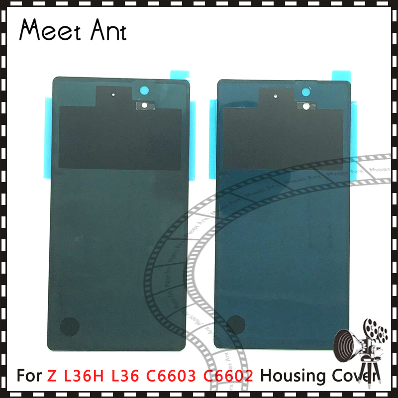 10pcs/lot high quality For <font><b>Sony</b></font> <font><b>Xperia</b></font> <font><b>Z</b></font> L36H L36 C6603 <font><b>C6602</b></font> Back Housing <font><b>Battery</b></font> Cover Door Rear Cover image