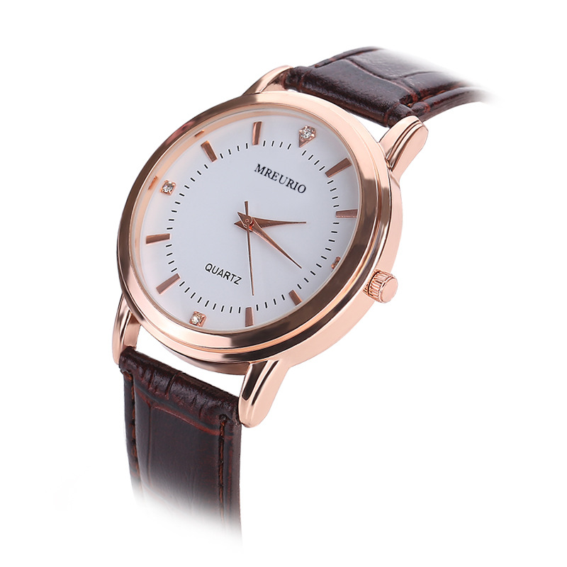 Leather Lover s Watches Simple Elegant 12 Roman Numerals Black Waterproof Couple Watch Gifts for Men