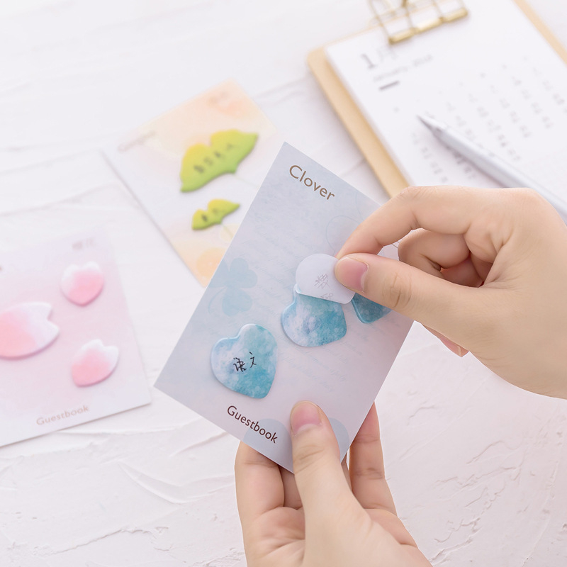DL Korean stationery creative aesthetical flower petals convenient sticker N post memorandum note sticker note Exquisite office