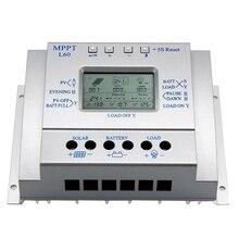 1 unids Control 60A MPPT REGULADOR de Carga Del Panel Solar 12 V 24 V Regulador de La Batería