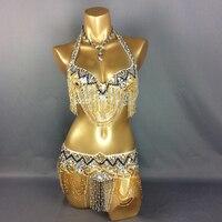Wholesale New Belly Dance Costume Set BRA Belt 2 Piece Set Accept Any Size