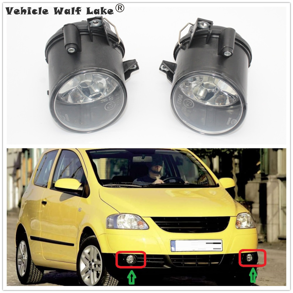 2 X Car Light For VW Fox 2004 2005 2006 2007 2008 2009 2010 Car-styling Front Bumper Fog Light Fog Light Without Bulbs