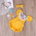 Newborn Infant Baby Flower Lace Girls Romper Jumpsuit Outfits Clothes