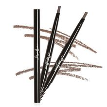 4 Colors Long Lasting Waterproof Eyebrow Eyeliner Pen Pencil with Brush Natural Easy to Wear Makeup Tools