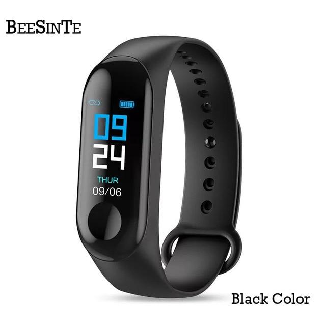 Pulsera inteligente Fitnesstracker pulsera inteligente con Monitor de ritmo cardíaco sangre presión colorida pantalla táctil mensaje instantáneo a