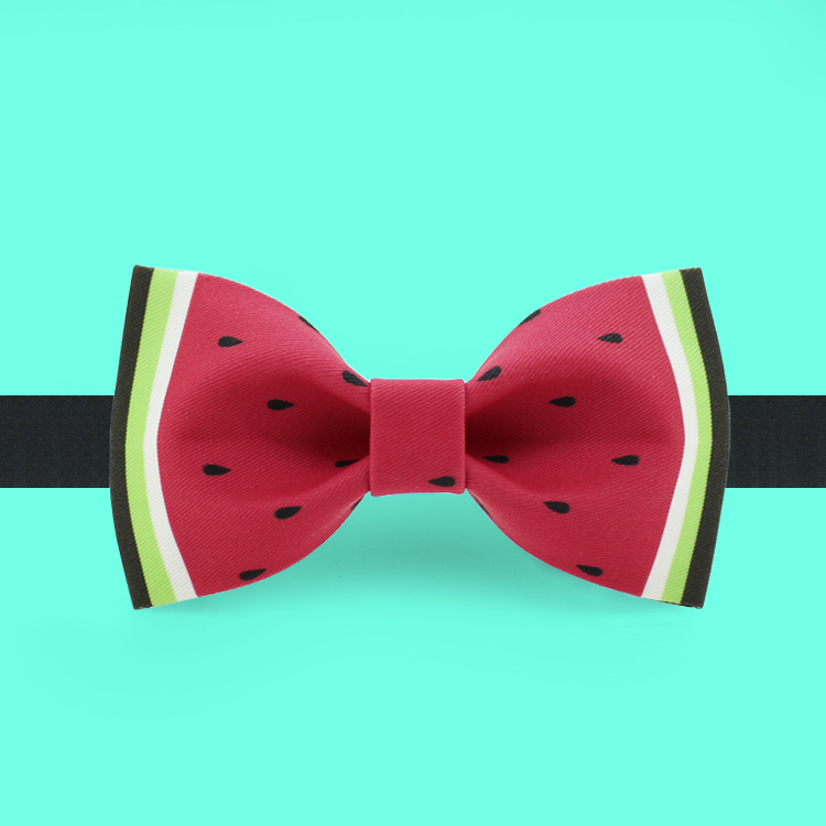 Free shipping new fashion men's design male dress suit bow tie wedding printed bridegroom Headdress Personality watermelon 2017