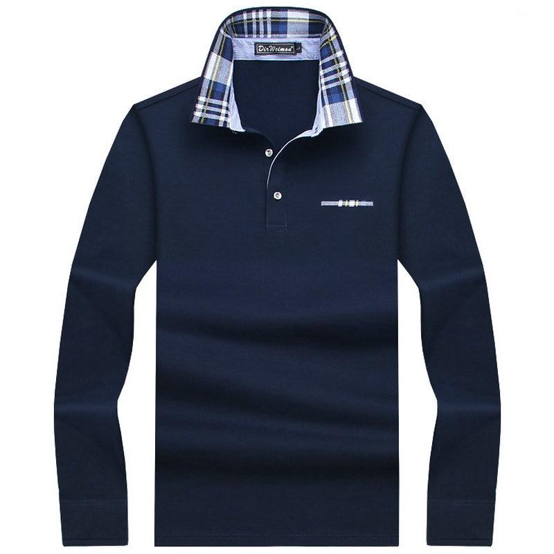 8c177d5b35bb 2018 Casual baumwolle Männer Polo Hemd Dicker Mens Langarm Solide Polo  Shirts Camisa Polos Tops T
