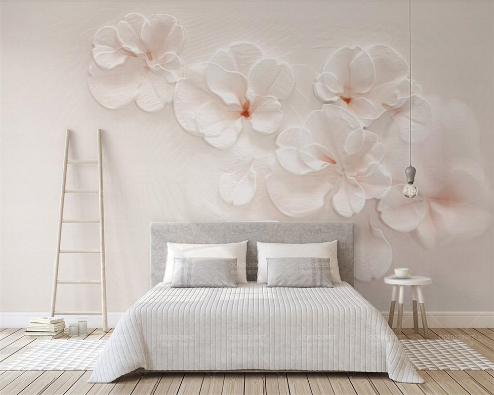 Wallpapers Painting Supplies & Wall Treatments Constructive Beibehang Custom Wallpaper 3d Three-dimensional Sakura Embossed Nordic Flower Minimalistic Tv Background Wall Mural 3d Wallpaper Finely Processed