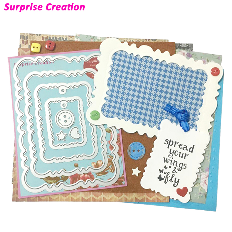 Surprise Creation Cutting Dies Vintage Rounded Frames