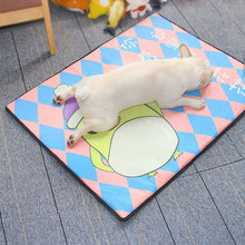 Summer Pet Cat And Dog Ice Silk Cool Pad Sponge Breathable Mat Kennel Cooling Sleeping