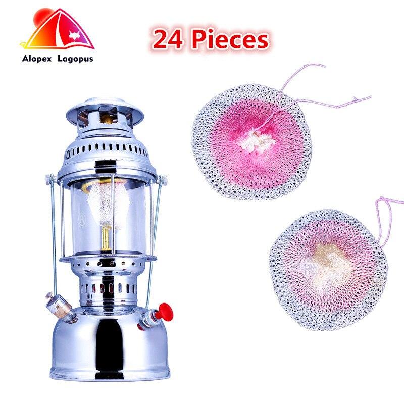 24 sztuk Butterfly Mantle wysokiej jakości lampy gazowe, lampa zewnętrzna płaszcz gazowy, płaszcz światła na zewnątrz, lekki obóz olejowy 500-600cp