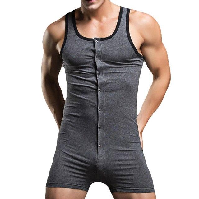 Sexy Men Bodysuit Gay Penis Pouch Man Body Suits Brand Superbody Sexy Man Bodywear Bodybuilding Cotton Man Tank Top Singlets