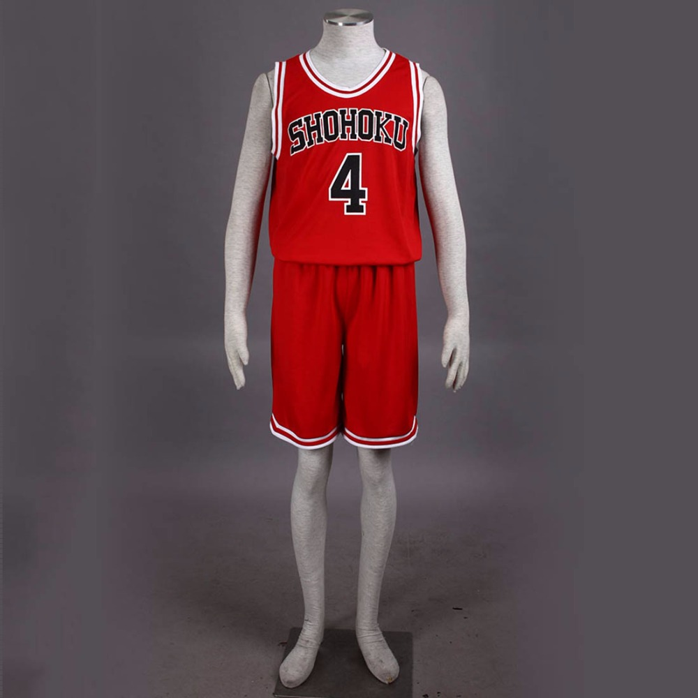 SLAM DUNK Takenori Akagi Cosplay Costume Shohoku High School Team NO 4 Sports Uniform Jersey XS