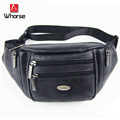 New Vintage real genuine leather waist pack men casual bag men fanny pack belt money shoulder messenger bags WB71611