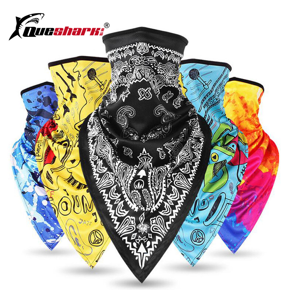 QUESHARK Winter Warm Cycling Skiing Face Mask Windproof  Motorcycle Bike Snowboard Scarf Mask Ski Bibs