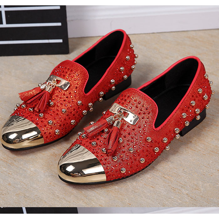 ФОТО new 2017 mens genuine leather rivets flat casual tassel shoes driving mocassins mens loafers plus size 37-46