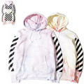 OFF-WHITE men sweatshirt Spring & Autumn Tie dye long sleeve cotton woman man hoodies fashion hooded coats S-XL
