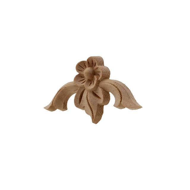 VZLX Vintage Floral Wood Carved Corner Applique Wooden Carving Decal For Furniture Cabinet Door Frame Wall Home Decor Crafts 5