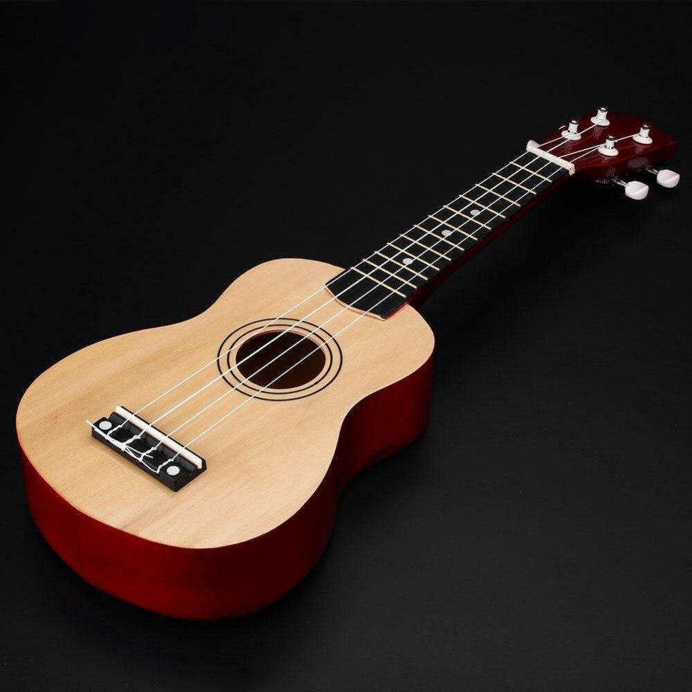 21 pulgadas Soprano Ukelele Hawaiano De Madera Instrumento Musical de La Guitarr