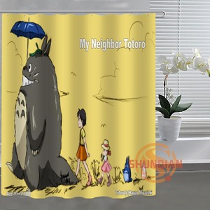 Image 2 - Занавеска для душа Ghibli Totoro, занавеска для ванной комнаты, декор для ванной комнаты, H03M26D37